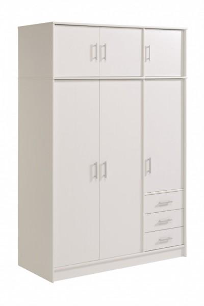 Parisot Infinity - Kleiderschrank mit Aufsatz 195x130 cm, Dekor Weiß