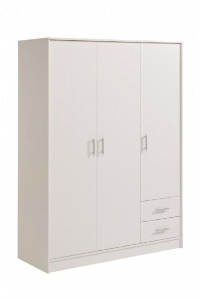 Parisot Infinity - Kleiderschrank 3türig 180x133 cm, Dekor Weiß