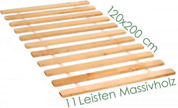 Roll Lattenrost 11 Leisten Massivholz 120x200 cm