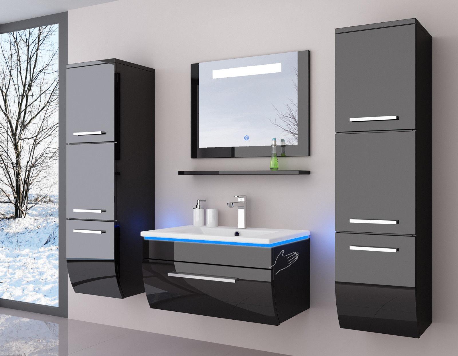 Badezimmer Möbel Set Aus MDF Holz Lackiert 6-teilig