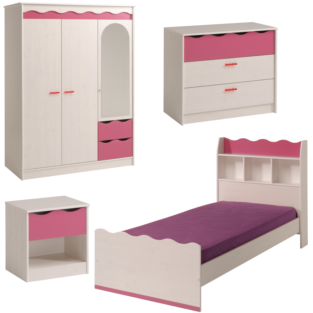 parisot kinderzimmer m bel set lilu 4teilig parim. Black Bedroom Furniture Sets. Home Design Ideas