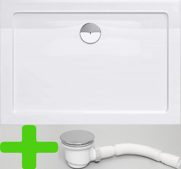 Duschtasse 80x120 cm Duschwanne Wanne Acryl Für Duschabtrennung Duschkabinen Dusche 5cm Flach