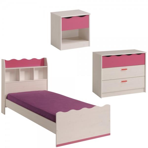Parisot Kinderzimmer Set Lilu 3teilig 90x200 cm