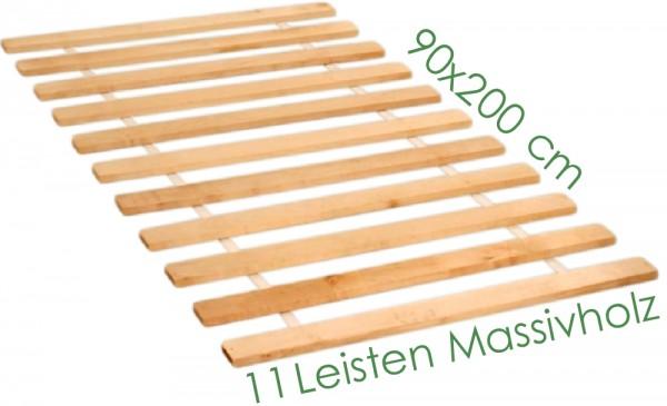 Rolllattenrost 11 Leisten Massivholz 90x200 cm